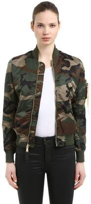 Alpha Industries Ma-1 Vf Lw Custom Cropped Bomber Jacket