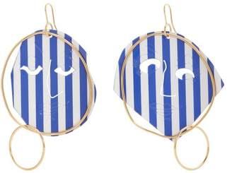 J.W.Anderson Moon Face striped earrings