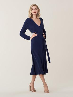 Diane von Furstenberg Tilly Crepon Midi Wrap Dress