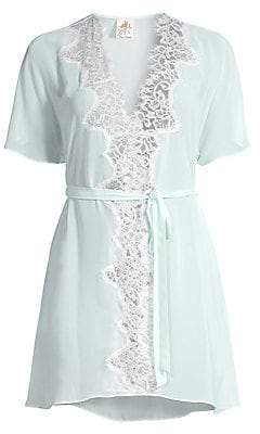 Jonquil Women's Stephanie Chiffon Lace Short Robe