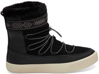 Black Leather Women's Alpine Boots
