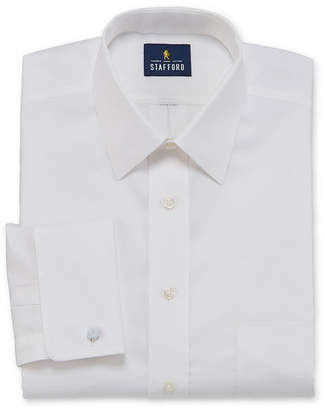 STAFFORD Stafford Executive Non-Iron Cotton Pinpoint Oxford French Cuff Mens Spread Collar Long Sleeve Stretch Dress Shirt