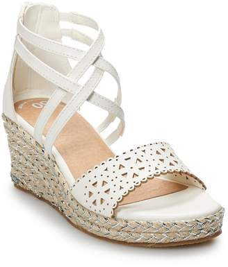 So SO Excursion Girls' Espadrille Wedge Sandals