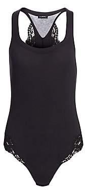 La Perla Women's Souple Lace-Trimmed Bodysuit