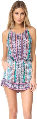 Nanette Lepore Kimono Patchwork Romper $152 thestylecure.com