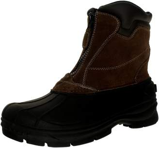 totes Men's Glacier-Zip Ankle-High Leather Boot - 7M