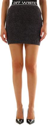 Off-White Off White Lurex Miniskirt