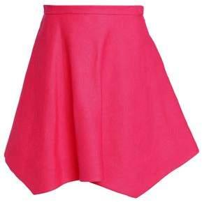 DELPOZO Asymmetric Linen Mini Skirt