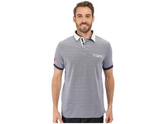 U.S. Polo Assn. Solid Pique Polo Shirt w/ Contrast Collar Men's Short Sleeve Pullover