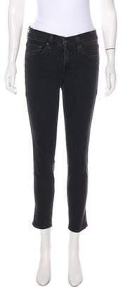 Vince Relaxed Rolled Mid-Rise Skinny Jeans