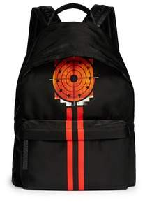 Givenchy Backpack Target Print Star Studs Black Red