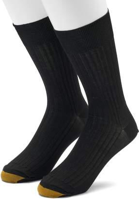 Gold Toe Goldtoe Men's GOLDTOE 2-pack Comfort Top Non-Binding Crew Socks