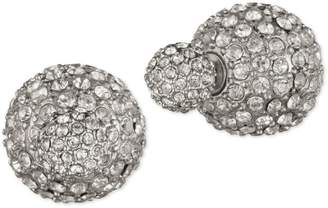 Anne Klein Silvertone Double Fireball Earrings