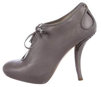 Christian Dior Leather Ankle Booties