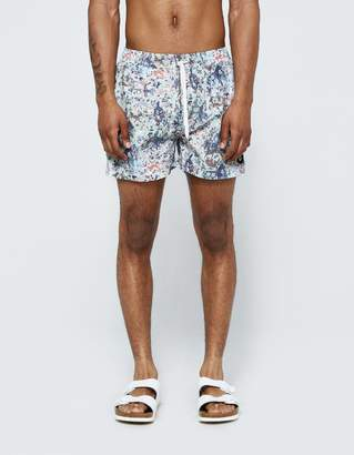 Insted We Smile Colorful War Swim Short in Multi