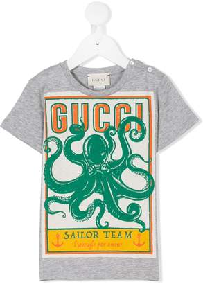 Gucci Kids octopus print T-shirt