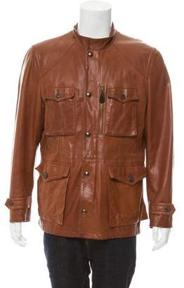 Burberry Leather Field Jacket