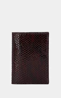 Barneys New York Men's Stamped-Leather Passport Case - Burgundy