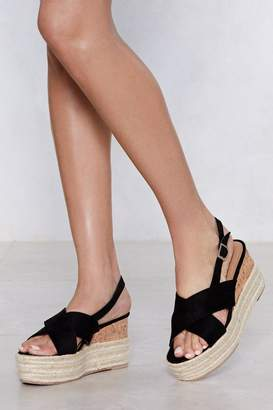 Nasty Gal Up the Ante Platform Sandal