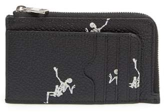 Alexander McQueen Dancing Skeleton Leather Zip Wallet