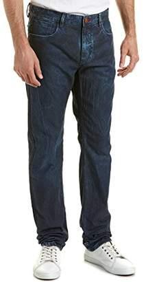 Robert Graham Men's Blue Desert Woven Denim Tailored Fit