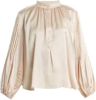 Apiece Apart Bravo hammered-silk top