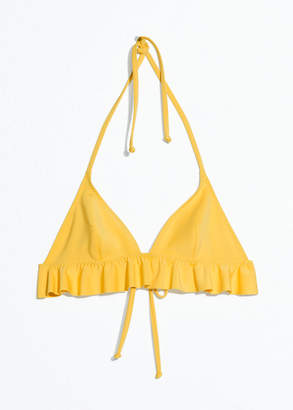 And other stories Ruffle Halter Bikini Top