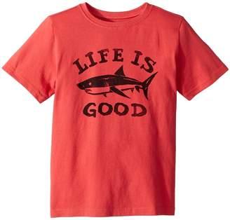 Life is Good LIG Shark Crusher T-Shirt Boy's T Shirt