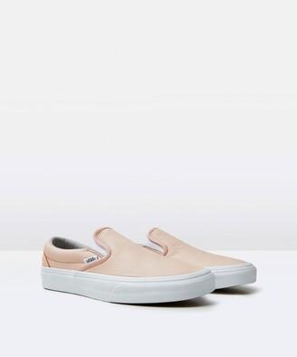 Vans Classic Leather Slip On Sand