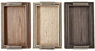 Twos Company Manchester Veneered Nested Trays (Set of 3)