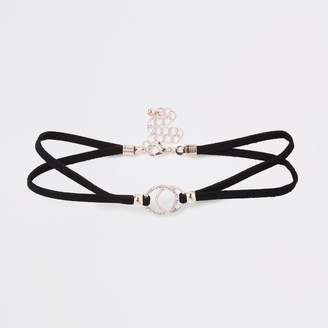 River Island Girls Black interlink circle choker