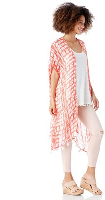 Lightweight Printed Kimono with Tassels $39.95 thestylecure.com