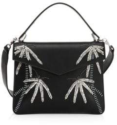 Les Petits Joueurs Embellished Leather Crossbody Bag