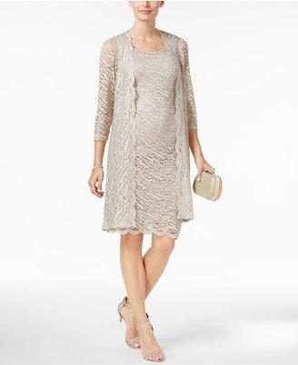 R & M Richards Sequined Lace Popover Dress & Jacket $129 thestylecure.com