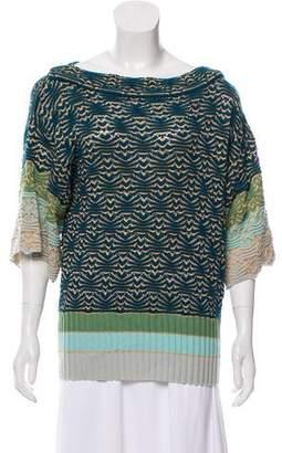 Missoni Metallic Open-Knit Sweater