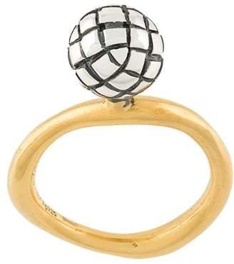 Bottega Veneta antique Intrecciato ring