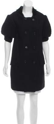 Proenza Schouler Shearling-Trimmed Wool Coat