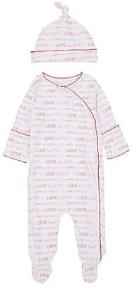 Lisa Perry Infants' Cotton Hat & Footed Coverall - Pink