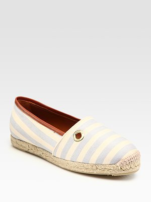 Hunter Striped Canvas Espadrille Boat Shoes