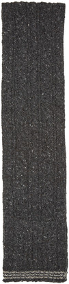 Thom Browne Grey Cableknit Funmix Scarf $215 thestylecure.com
