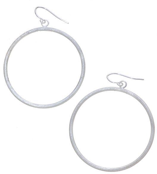 Apt. 9® laser-cut hoop drop earrings