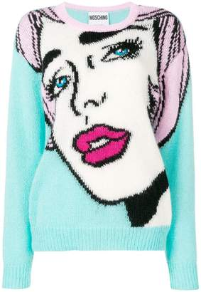 Moschino 'eyes' knitted sweater