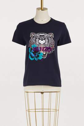 Kenzo Cotton tiger and flower T-shirt