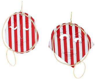 J.W.Anderson sculpted striped earrings
