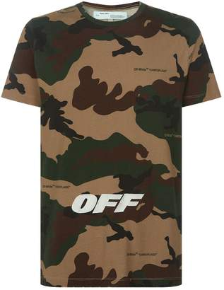 Off-White Off White Camouflage T-Shirt