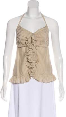 Robert Rodriguez Silk Halter Top