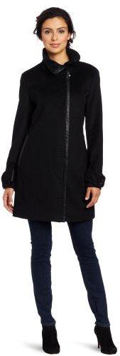 Calvin Klein Women's Lux Patent Trim Coat