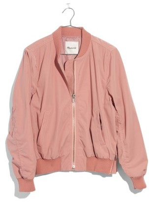 Women's Madewell Side Zip Bomber Jacket $128 thestylecure.com