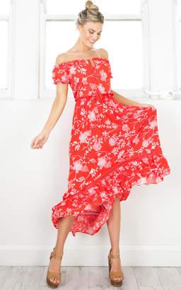 Showpo Salsa Salsa maxi dress in red floral