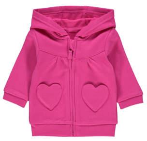 George Pink Heart Pocket Hoodie